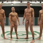 Gay nude wrestling and wild punishment