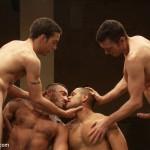Gay wrestling orgy